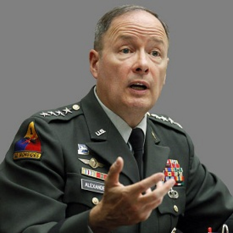 Original photo of Army Gen. Keith B. Alexander