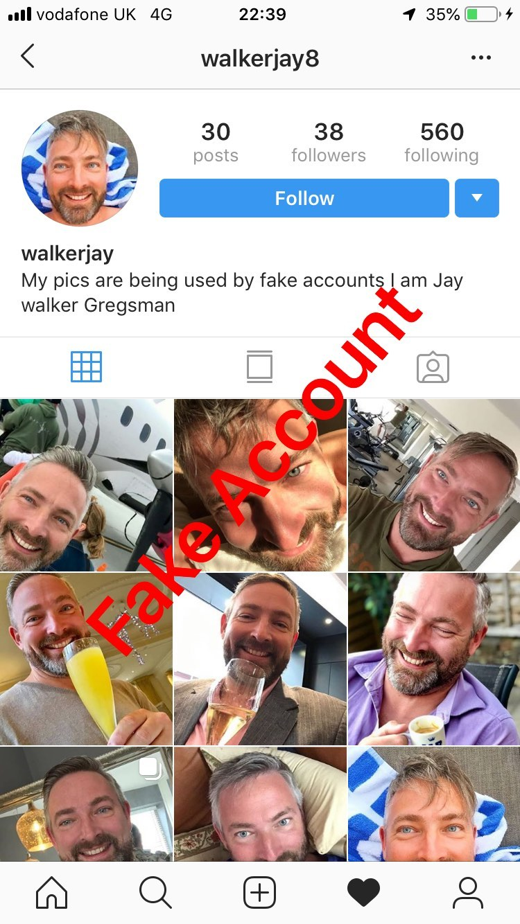 Adam Smith fake account on Instagram - 1