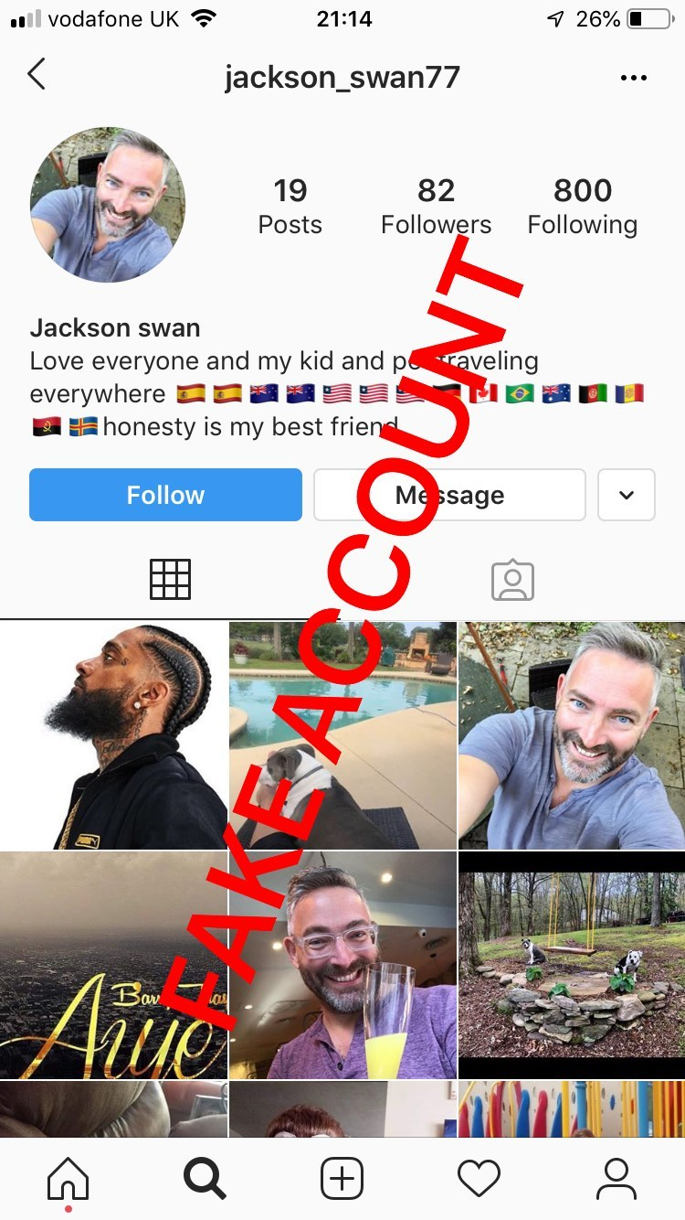Adam Smith fake account on Instagram - 11