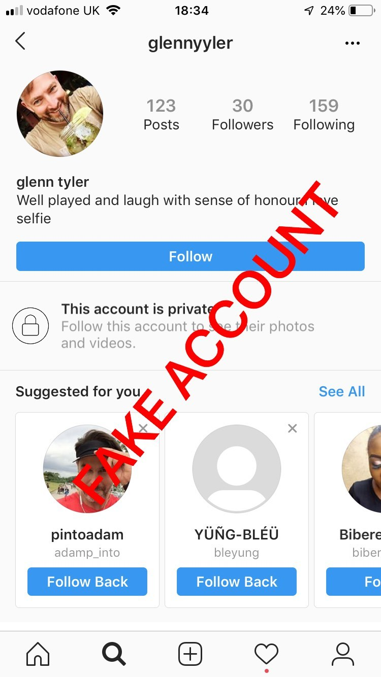 Adam Smith fake account on Instagram - 17