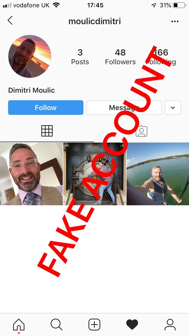 Adam Smith fake account on Instagram - 19