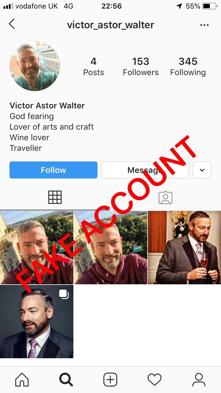 Adam Smith fake account on Instagram - 20