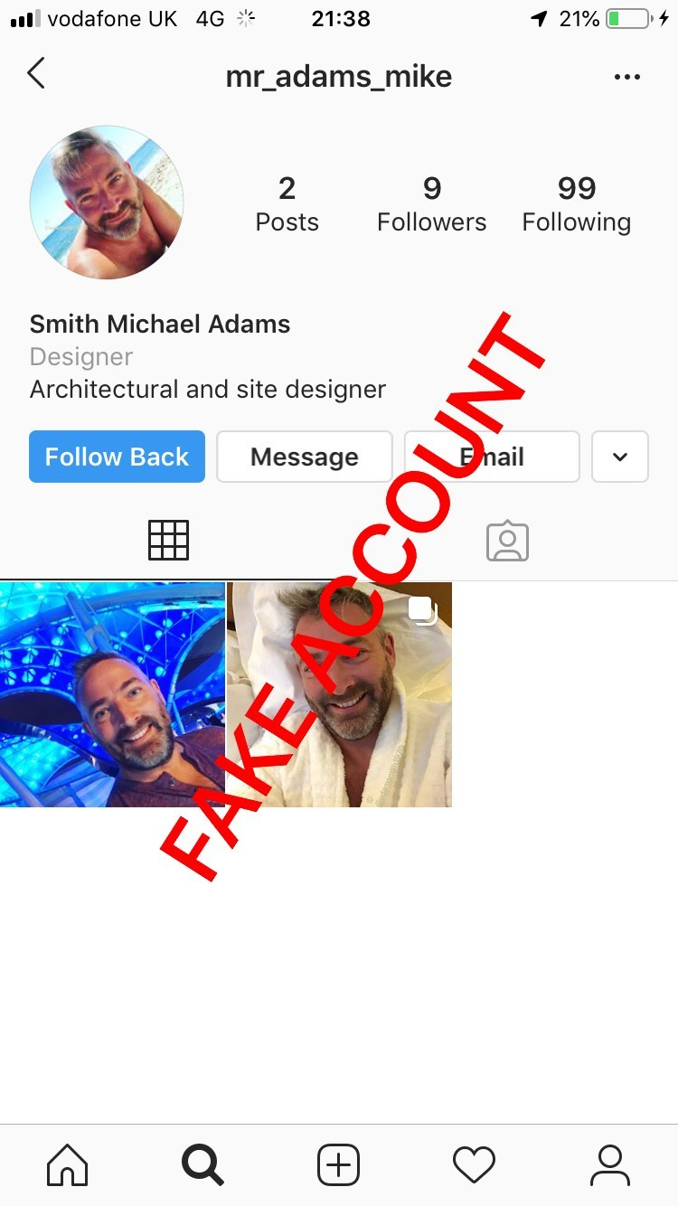 Adam Smith fake account on Instagram - 25