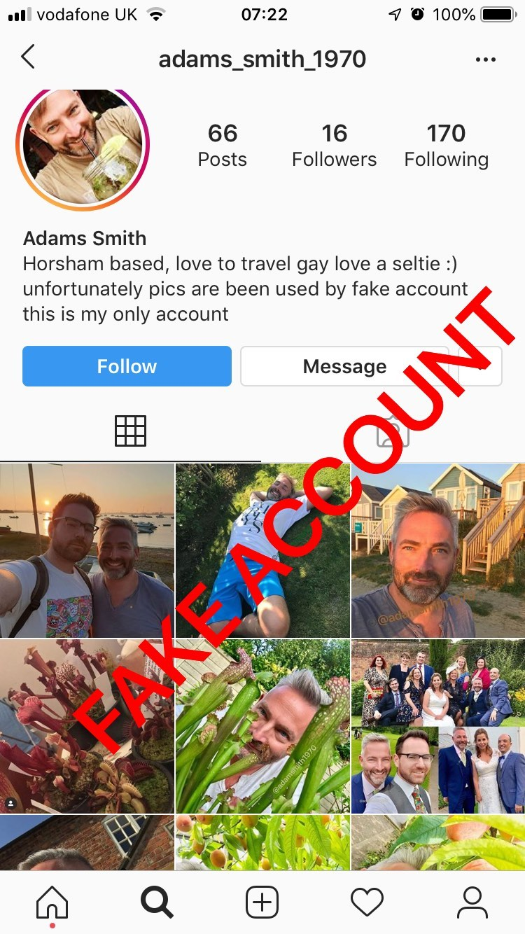 Adam Smith fake account on Instagram - 26