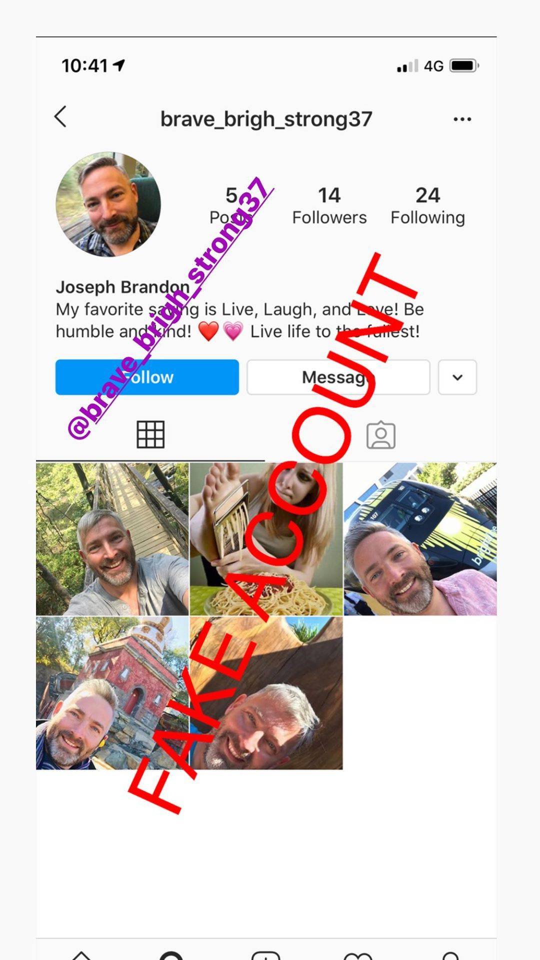 Adam Smith fake account on Instagram - 41