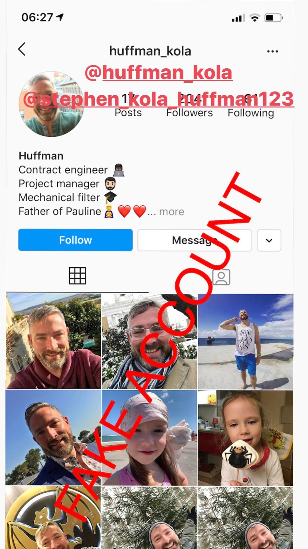 Adam Smith fake account on Instagram - 43
