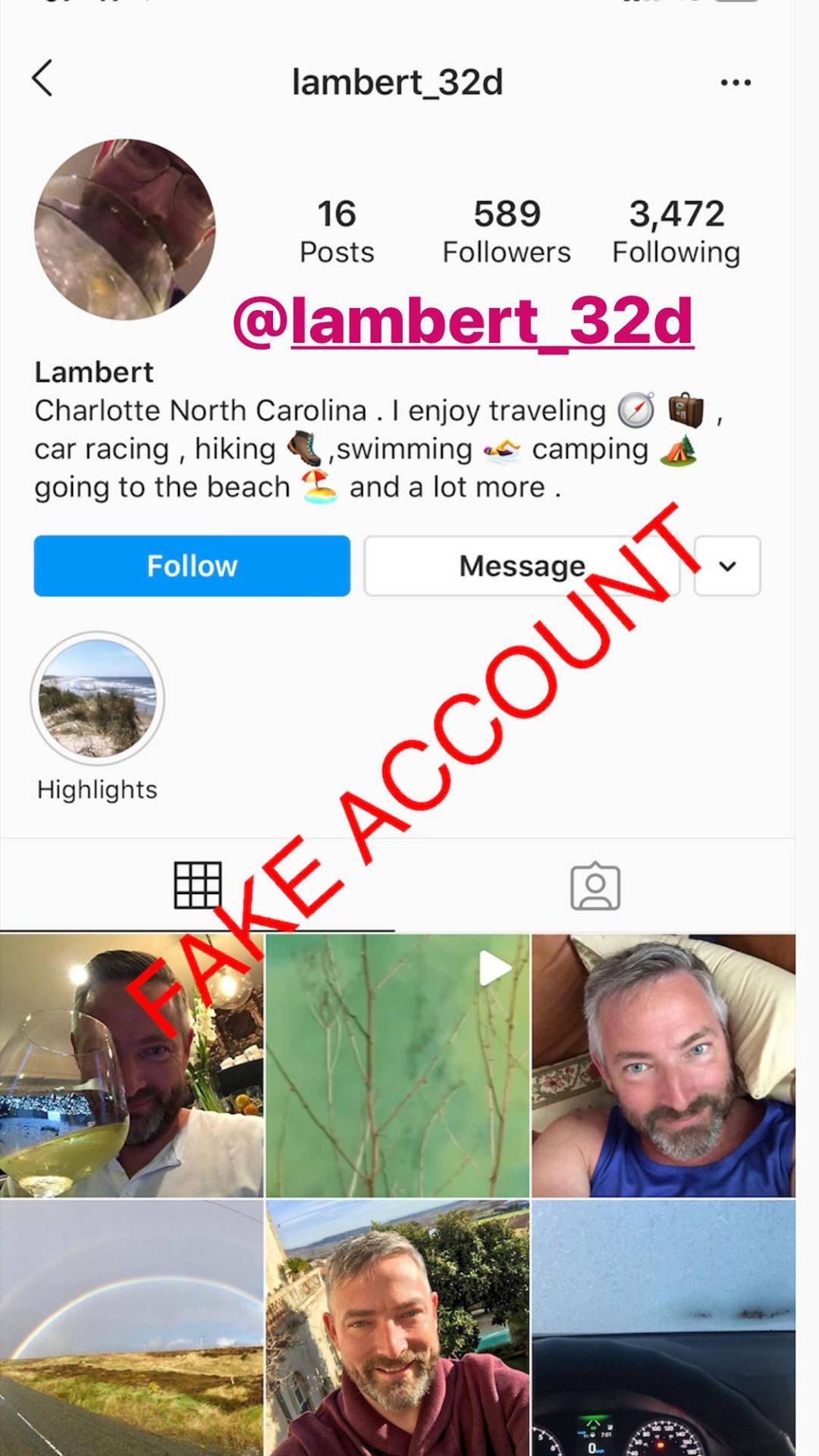 Adam Smith fake account on Instagram - 47