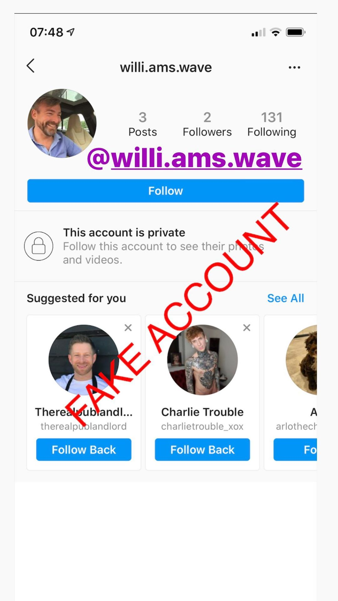 Adam Smith fake account on Instagram - 52