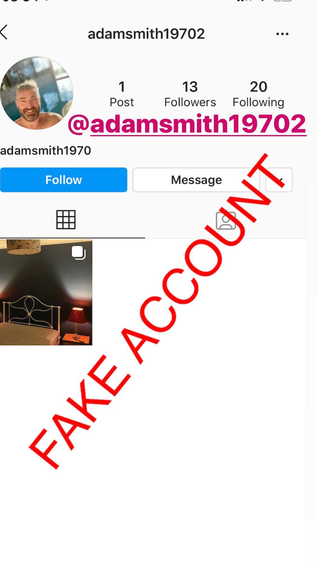 Adam Smith fake account on Instagram - 54