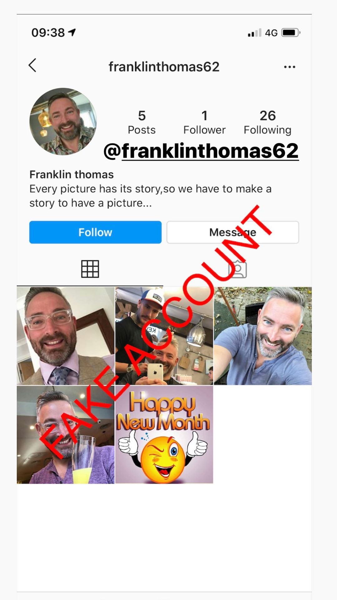 Adam Smith fake account on Instagram - 60
