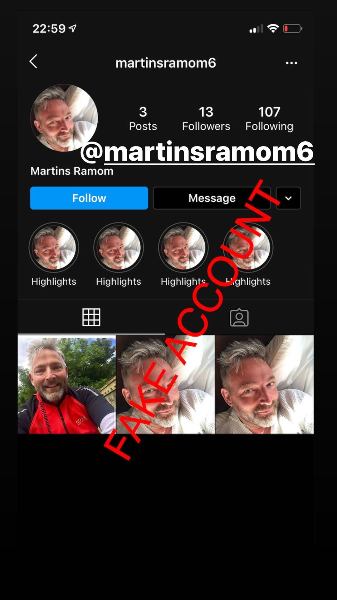 Adam Smith fake account on Instagram - 64