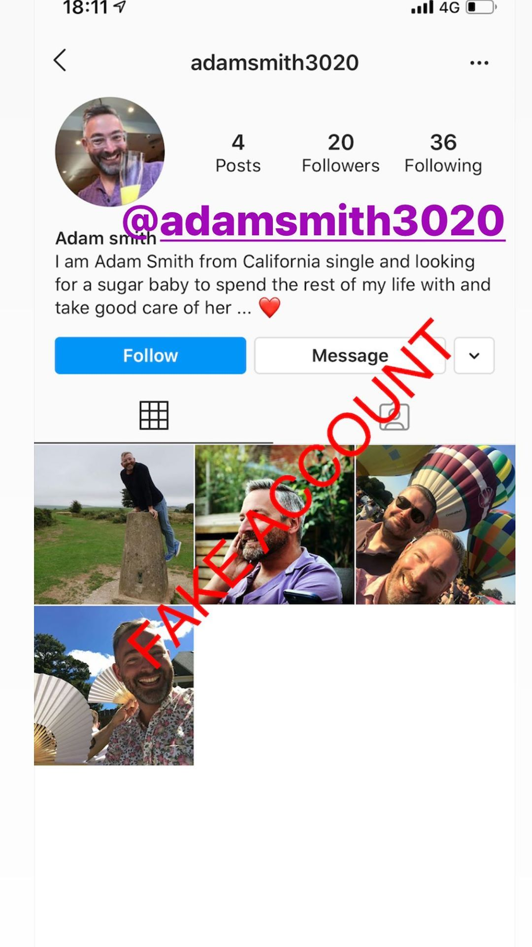 Adam Smith fake account on Instagram - 71