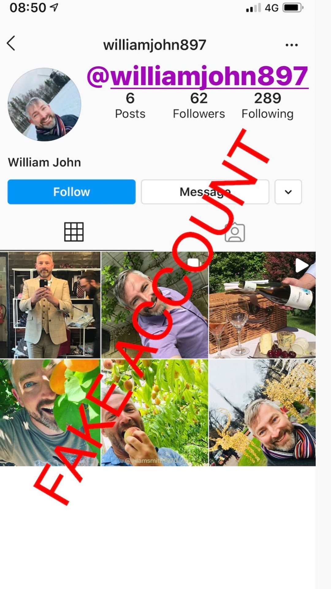 Adam Smith fake account on Instagram - 72