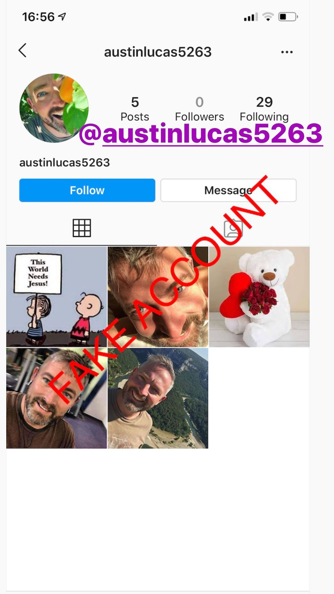 Adam Smith fake account on Instagram - 73