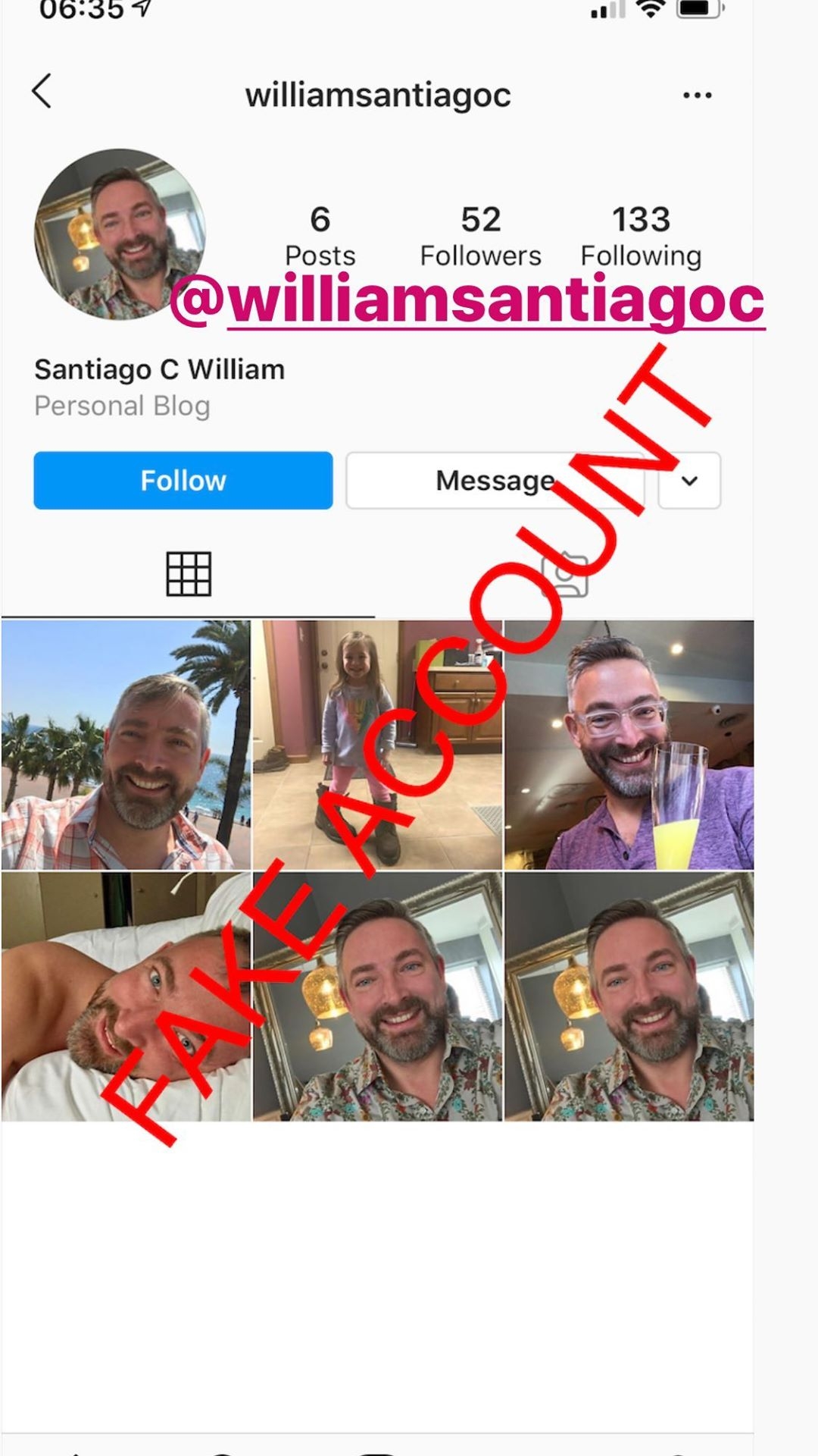 Adam Smith fake account on Instagram - 76