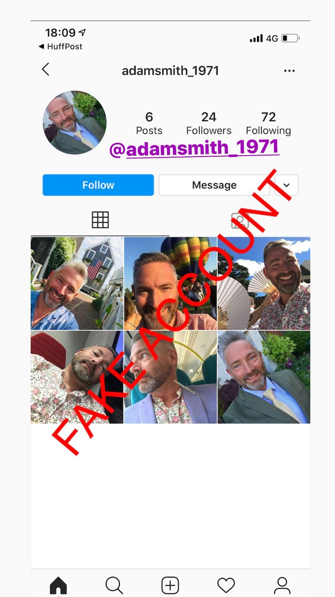 Adam Smith fake account on Instagram - 77