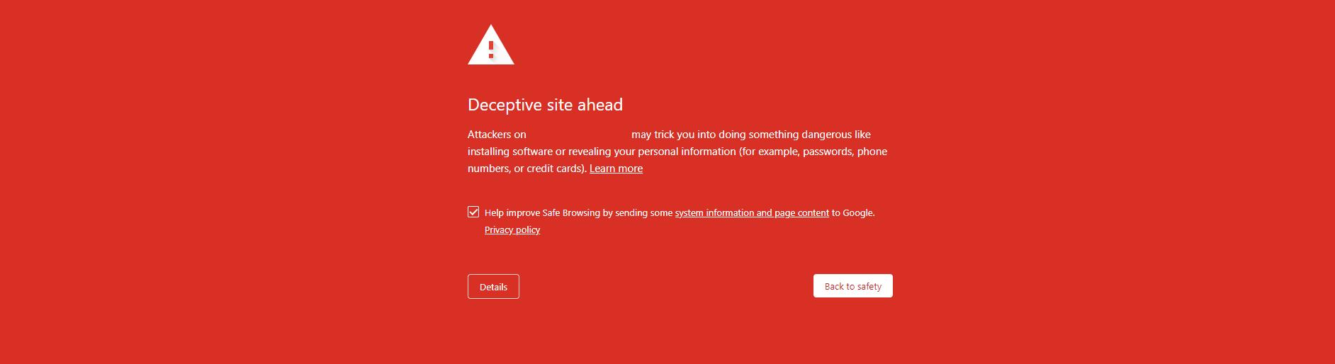 unsafe website